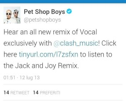 Pet Shop Boys talk about our 'Vocal Remix'